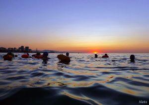 Sunrise Swim Bogatell Barcelona
